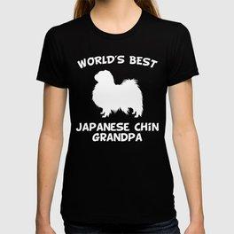 World's Best Japanese Chin Grandpa Dog Owner T-shirt