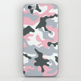 Pink Army Camo Camouflage Pattern iPhone Skin