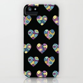 patchwork hearts iPhone Case