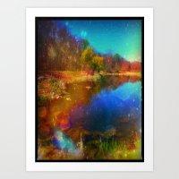 Magic Lake Art Print