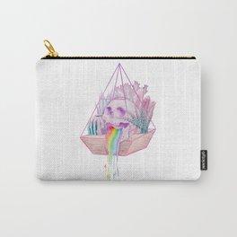 Rainbow Skull Succulent Crystal Garden Carry-All Pouch