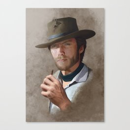 Man with no name ( Clint Eastwood ) Canvas Print