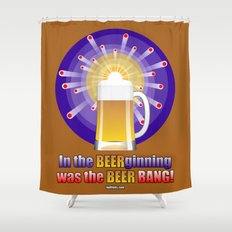 The Beer Bang! Shower Curtain