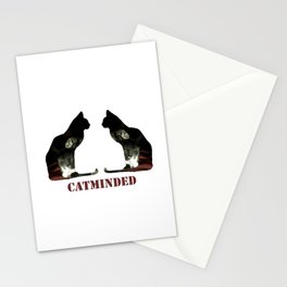 Cat minded Stationery Cards