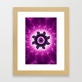 Purple Mandelbrot Fractal Art Print Framed Art Print