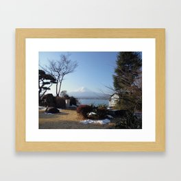 Mt Fuji Over Lake Kawagoe Framed Art Print