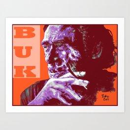 Charles Bukowski - PopART Art Print