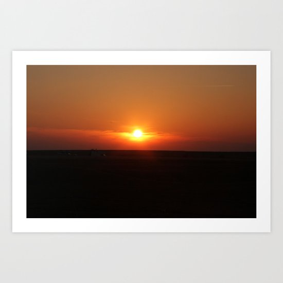 Sunset in Wiltshire England Art Print