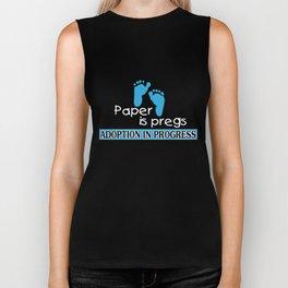 Adoption T-Shirt Paper Pregs Adoption In Progress Gift Tee Biker Tank