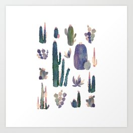 Watercolor Catus Art Print