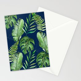 Tropical Leaves Banana Palm Tree Stationery Cards