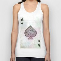 ace Tank Tops featuring ace card by Maria Enache