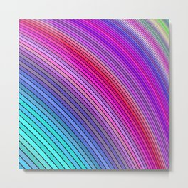Cold rainbow stripes Metal Print
