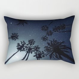 Palm Trees, Night Sky, Stars, Moon Rectangular Pillow