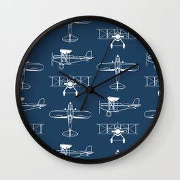 Biplanes // Navy Wall Clock