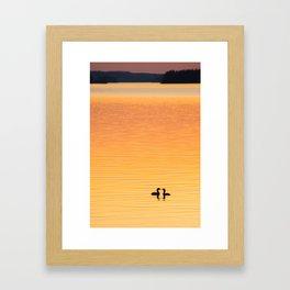 Summer Evening by The Lake at Sunset #decor #society6 #buyart Framed Art Print