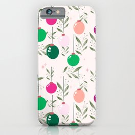 MERRY CHRISTMAS - PINK iPhone Case