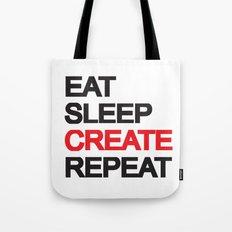 Eat Sleep CREAT Repeat Tote Bag