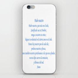 Padre nuestro iPhone Skin
