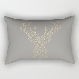 Geometric Deer Rectangular Pillow