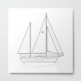 Islander Freeport 41 Metal Print