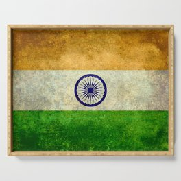 Flag of India - Grungy Vintage Serving Tray