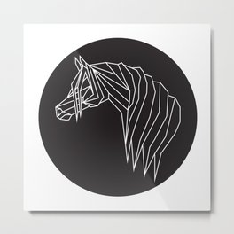 raya goods : modern pony (white) Metal Print