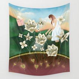 Origami Garden Wall Tapestry