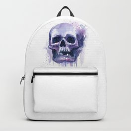 Skull in Watercolor Galaxy Space Backpack