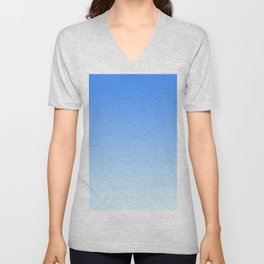 Sky Blue Gradient Unisex V-Neck