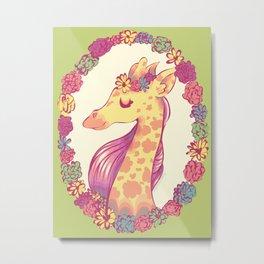 Lovely Giraffe 2 Metal Print