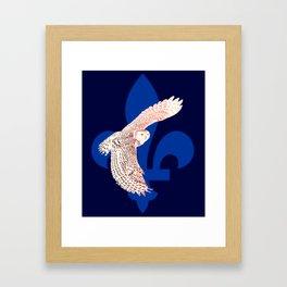 La fête des patriotes, le harfang des neiges. Framed Art Print