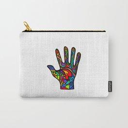 Folk Art Hand Carry-All Pouch