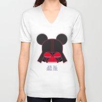 vader V-neck T-shirts featuring Vader  by danvinci