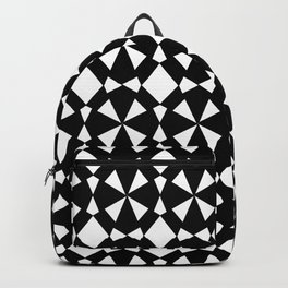 black and white symetric patterns 3- Backpack