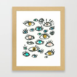Pop Eyes Framed Art Print