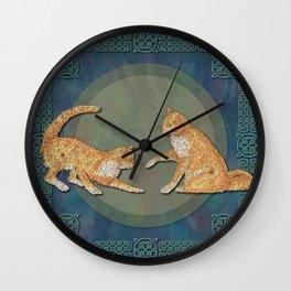 Celtic Cats - Ginger Cats Wall Clock