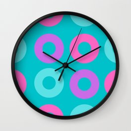 Circle Donuts teal Wall Clock