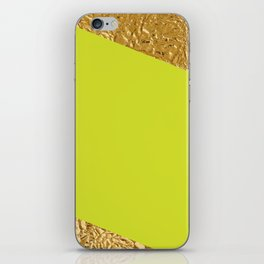 Green and Gold iPhone Skin