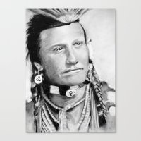 native american Canvas Prints featuring Native American by chomaee