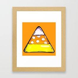 Candy Corn - Orange Framed Art Print