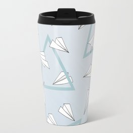 Paper Planes - Blue Travel Mug