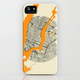 New York Map Moon iPhone Case