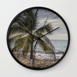 Palm tree & Boat Wall Clock