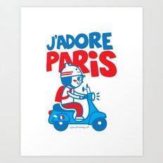 J´Adore Paris Art Print