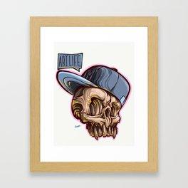 Art Life Skully Framed Art Print