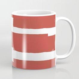Big Stripes In Red Coffee Mug
