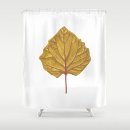 Goldenberry leaf Shower Curtain
