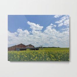 Abandoned Barn in the English Countryside Metal Print