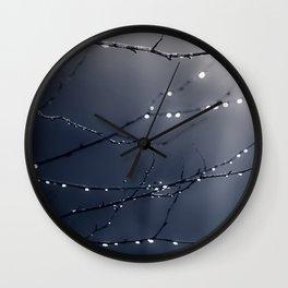 DARK BLUE FOREST Wall Clock